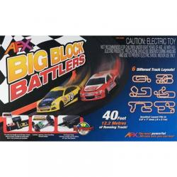 AFX Big Block Battlers Slot Car Set
