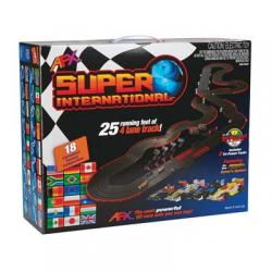 AFX Super International 4-Lane Slot Car Set