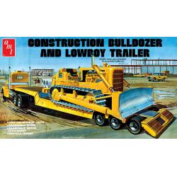 Bulldozer and Lowboy Trailer 1/25