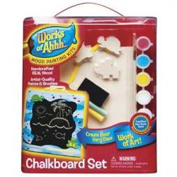 Wood Painting Kit Chalkboard Set