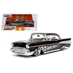 1957 Chevy Bel Air Black 1/24