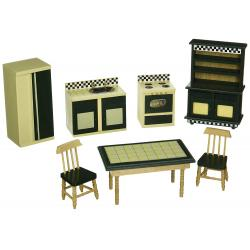 Dollhouse Kitchen Furniture Set
