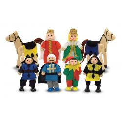 Castle Wooden Figure Set 8pcs