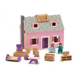 Wooden Dollhouse Fold n Go