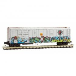 Z Scale Christmas Graffiti Boxcar