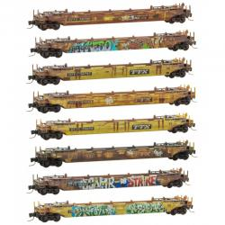 Z Scale TTX Well Car 8-Pack Weathered