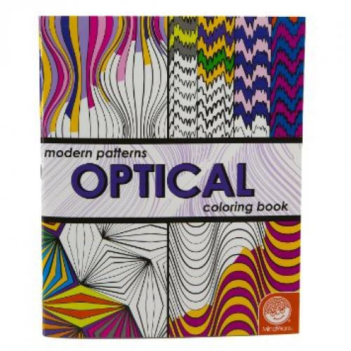 Modern Patterns Optical Coloring Book - Free CDN Shipping Available!